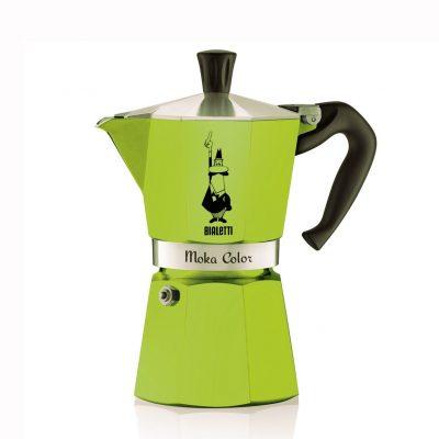 Cafetera Italiana Bialetti MOKA Express 6 Tazas Verde