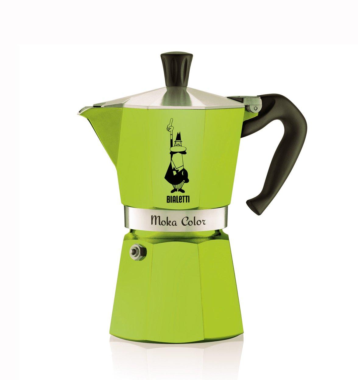 Cafetera italiana bialetti moka express 6 tazas verde bialetti per - Cafetera moka ...