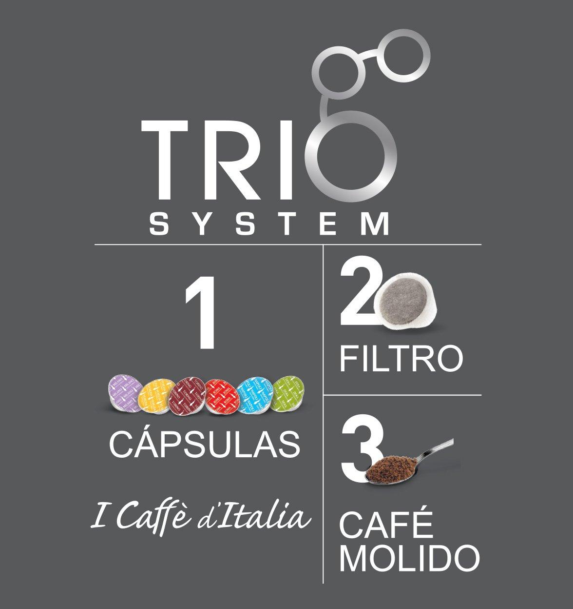 Mokona cafetera eléctrica Bialetti TRIO SYSTEM
