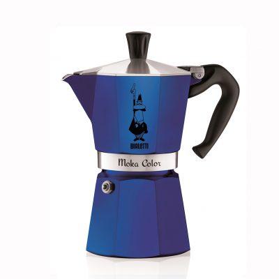 Cafetera Italiana Bialetti MOKA Express 6 Tazas Blu