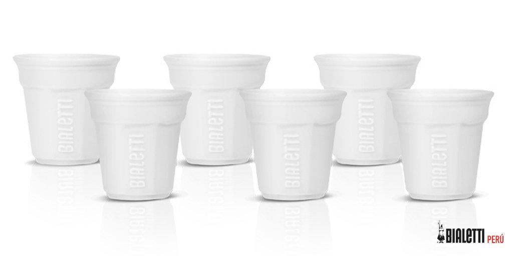 Vasitos blancos para espresso Bialetti
