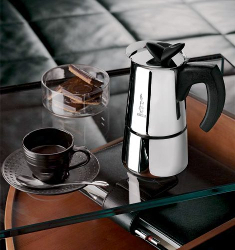 Cafetera Italiana Bialetti Musa Restyling en Acero