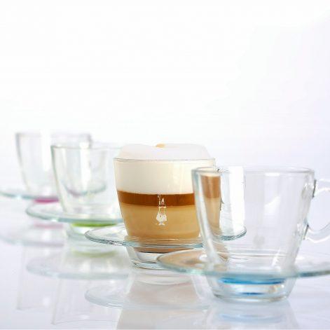 Taza para café espresso en vidrio mix color