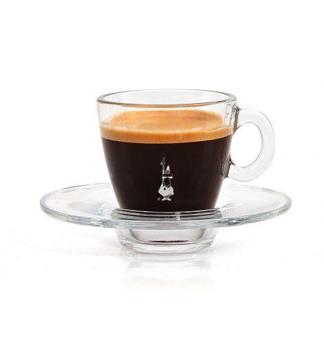 Taza para café espresso en vidrio trasparente café