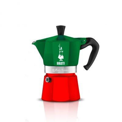 Cafetera Italiana Bialetti MOKA Express Tricolore 3 Tazas