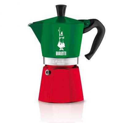 Cafetera Italiana Bialetti MOKA Express Tricolore 6 Tazas
