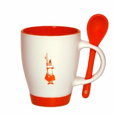 mug de cerámica con cucharita Bialetti