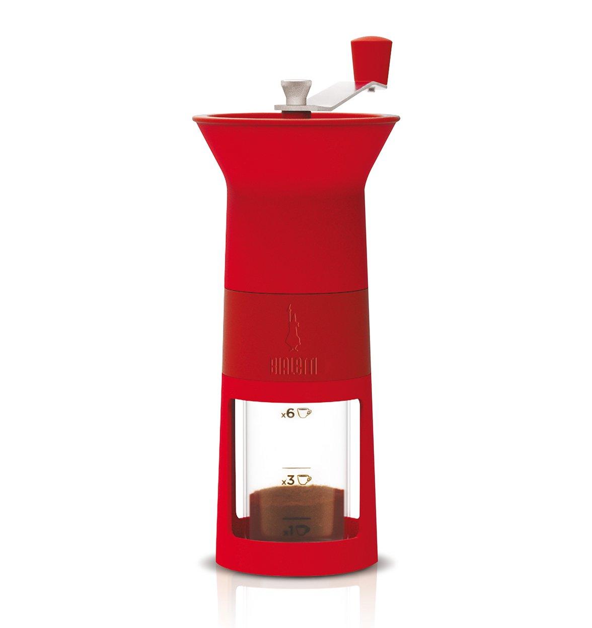 Molinillo de grano de cafè manual rojo bialetti