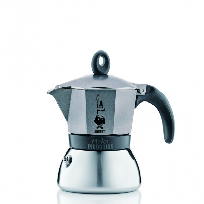 Cafetera Italiana Bialetti Moka Induction 3 Tazas Antracite