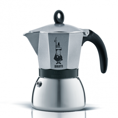 Cafetera Italiana Bialetti Moka Induction 6 Tazas Antracite