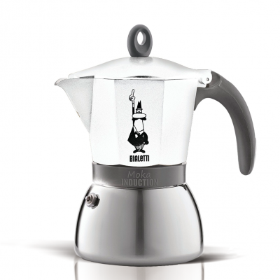 Cafetera Italiana Bialetti Moka Induction 6 Tazas White
