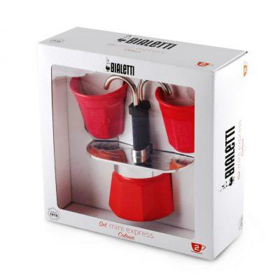 Set Mini Express 2 tacitas Roja-caja