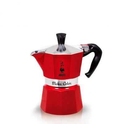 Cafetera Italiana Bialetti MOKA Color Red Emotion 3 Tazas Rojo