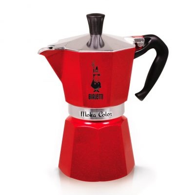 Cafetera Italiana Bialetti MOKA Color Red Emotion 6 Tazas Rojo
