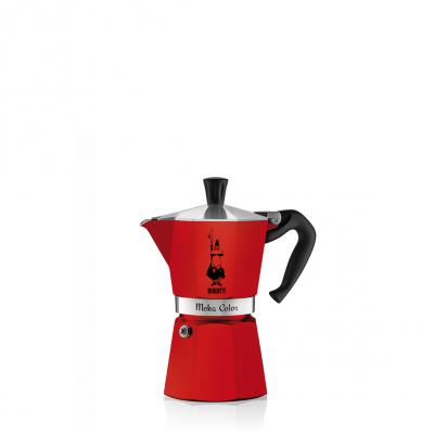 Cafetera Italiana Bialetti Moka Color 1 Taza Rojo