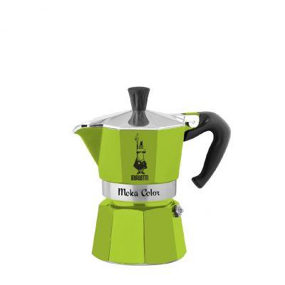 Cafetera Italiana Bialetti Moka Color Verde 3 Tazas