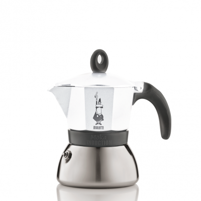 Cafetera Italiana Bialetti Moka Induction White 3 Tazas