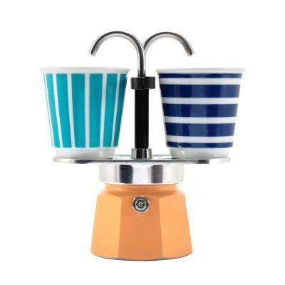 Set Cafetera Mini Express 2 TZ Amarillo + 2-Vasitos POP