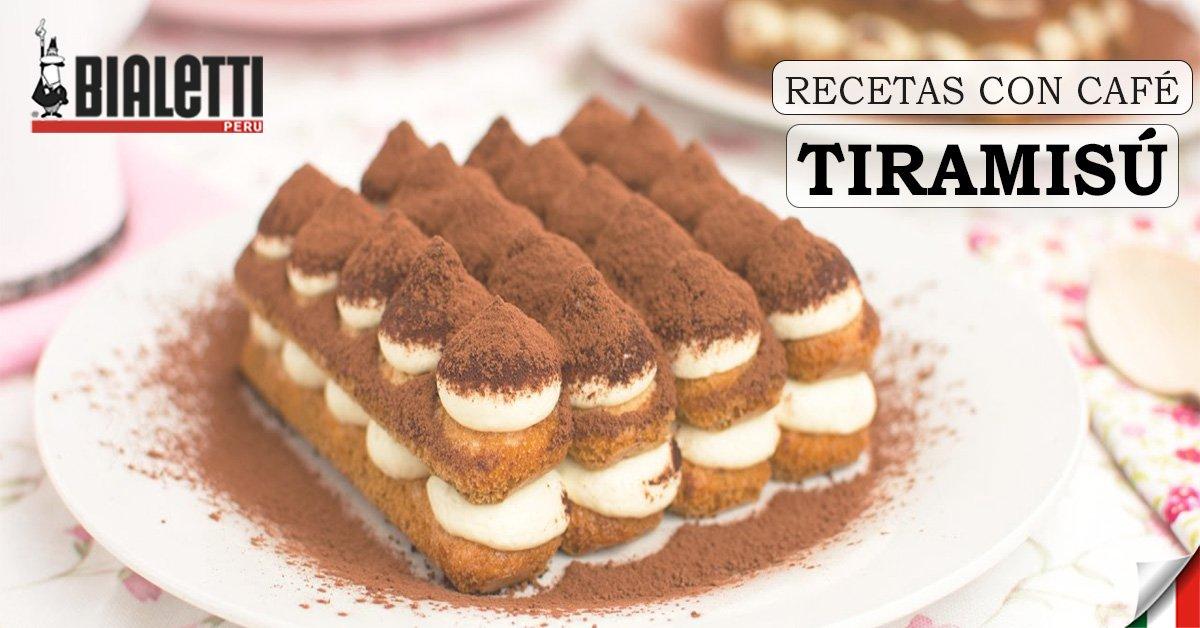 Recetas con Café - Tiramisú