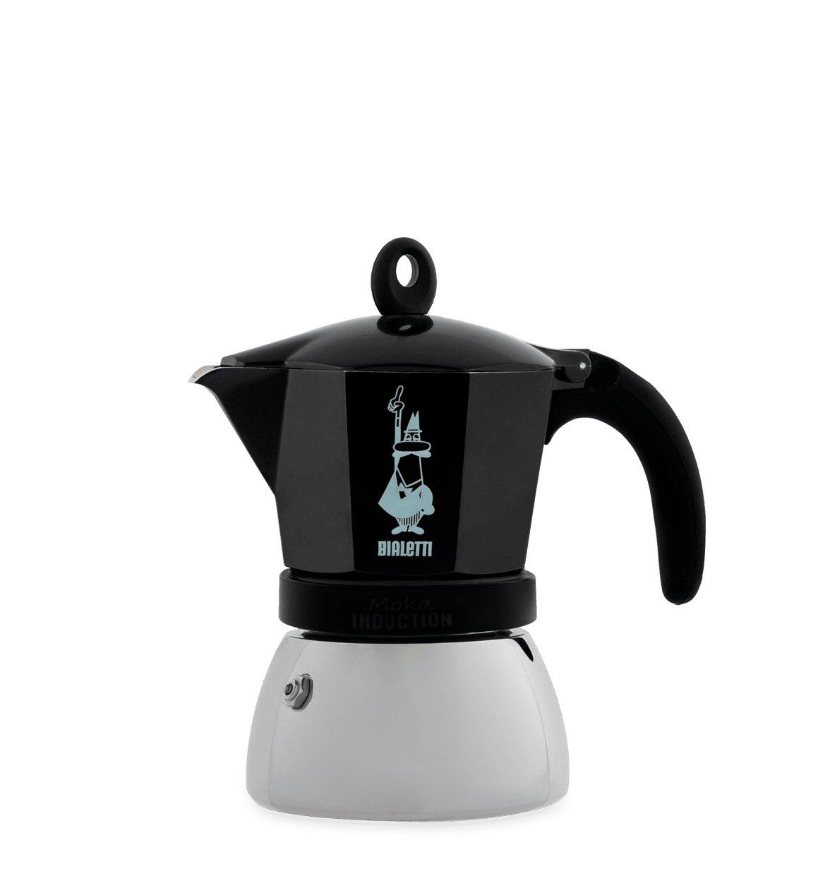 Cafetera Italiana Bialetti Moka Induction Negra 3 Tazas