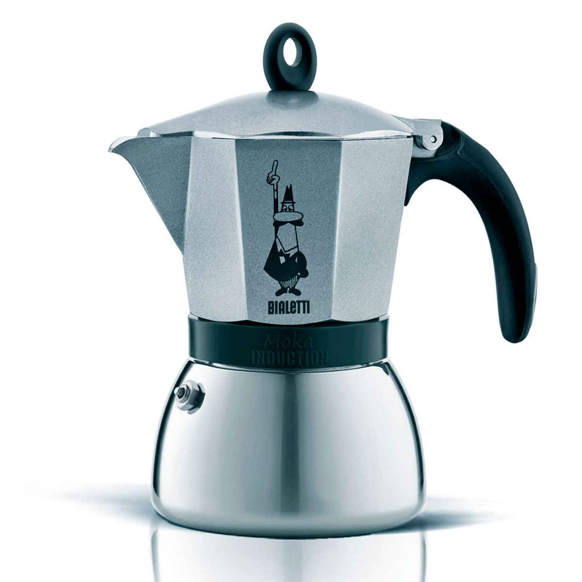 Cafetera Italiana Bialetti Moka Induction Gris 9 Tazas