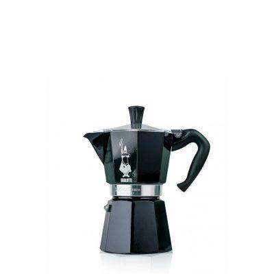 Cafetera Italiana Bialetti MOKA Color 1 Tazas Negro