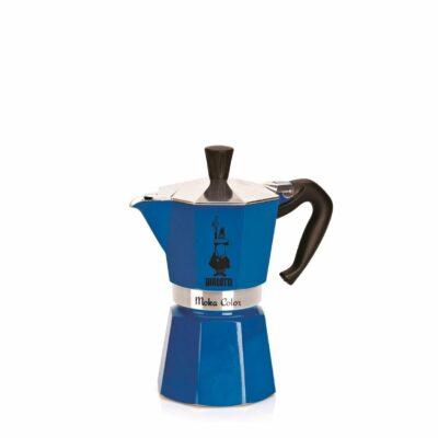 Cafetera Italiana Bialetti MOKA Express 3 Tazas Azul