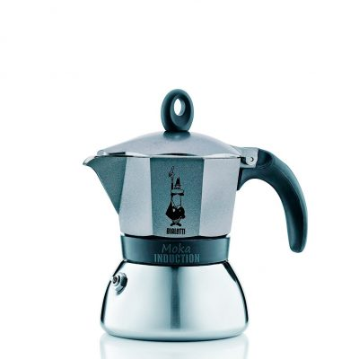 Cafetera Italiana Bialetti Moka Induction Antracite 3 Tazas