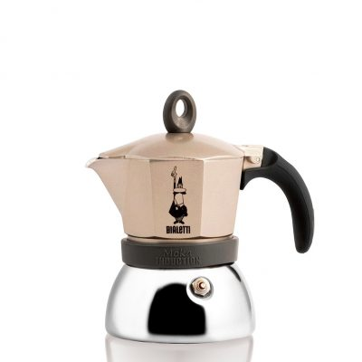Cafetera Italiana Bialetti Moka Induction Gold 3 Tazas