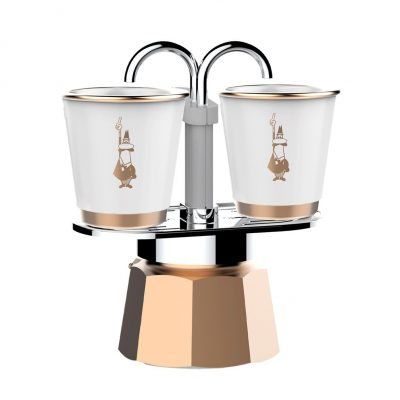 Set Cafetera Mini Express 2 Tz GOLD-COLLECTION 2 Vasitos