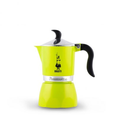 Cafetera Italiana Bialetti Fiammetta 1 Taza Electric Lime