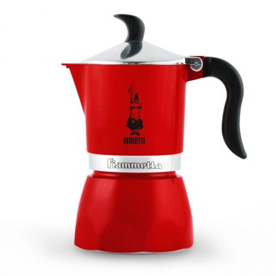 Cafetera Italiana Bialetti Fiammetta 3 Tazas Chilly Pepper