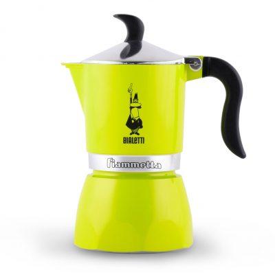 Cafetera Italiana Bialetti Fiammetta 3 Tazas Electric Lime