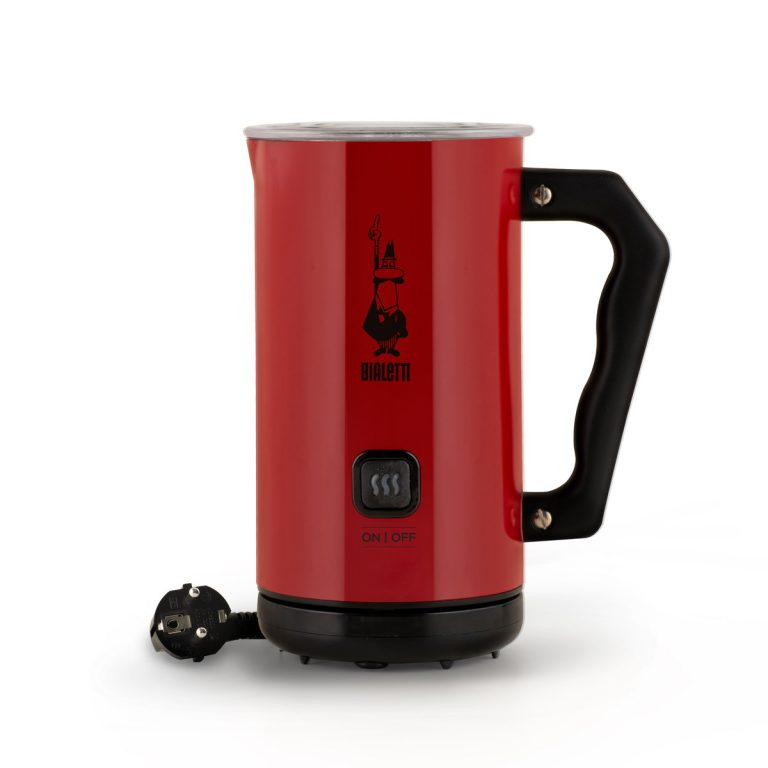 Milk Frother Espumador de leche eléctrico automático rojo Bialetti para cappuccino