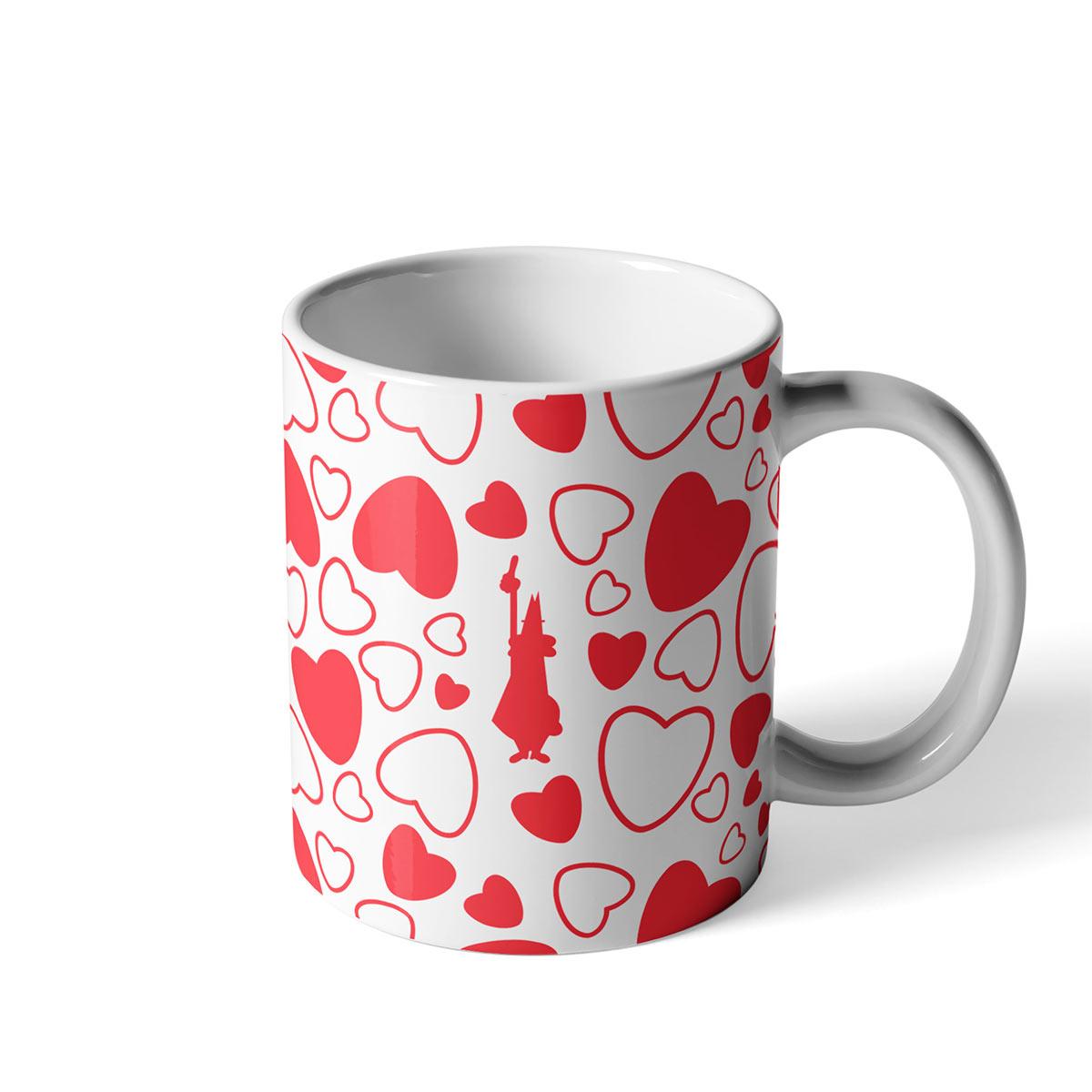 Taza para café Mug Cuore Blanco de Porcelana Bialetti