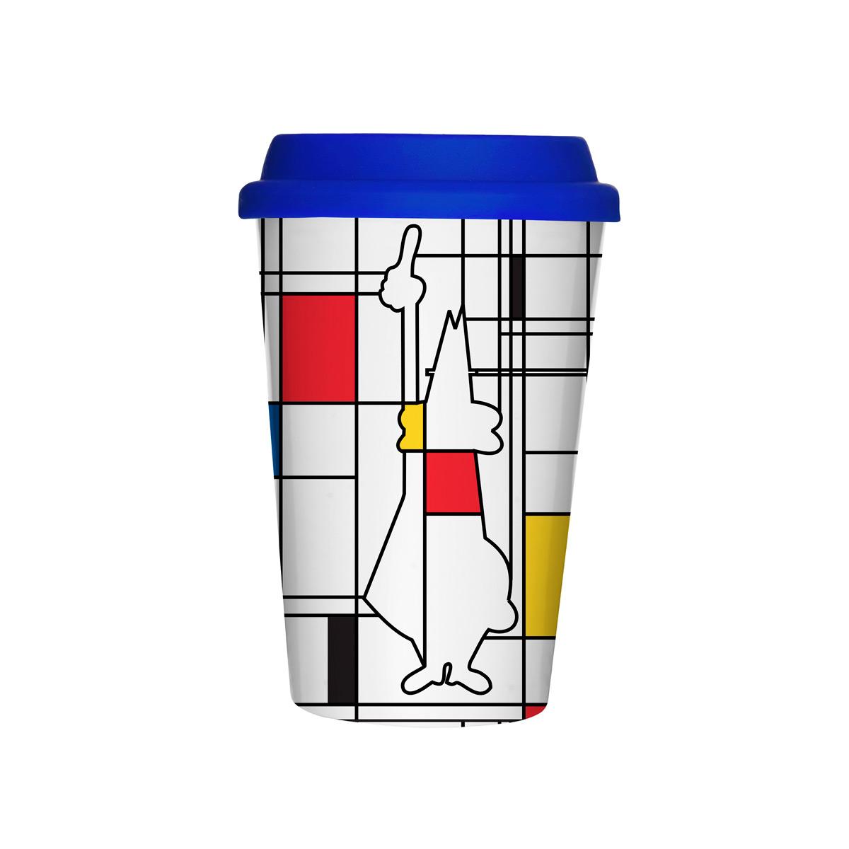 Vaso térmico para llevar Café Mug Take Away Mondrian Bialetti