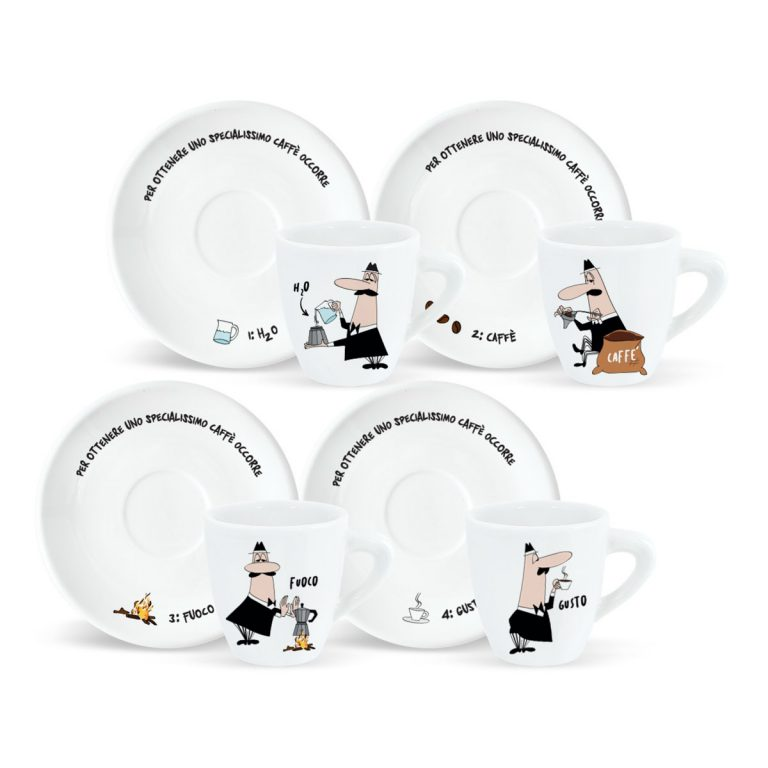 Set 4 tazas y platitos how to make Bialetti