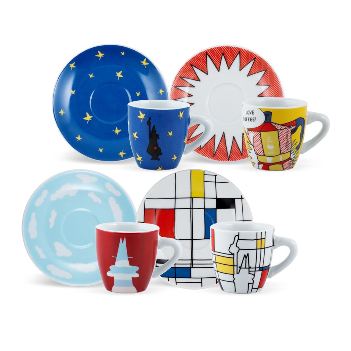 Set 4 tazas New Arte para café Bialetti