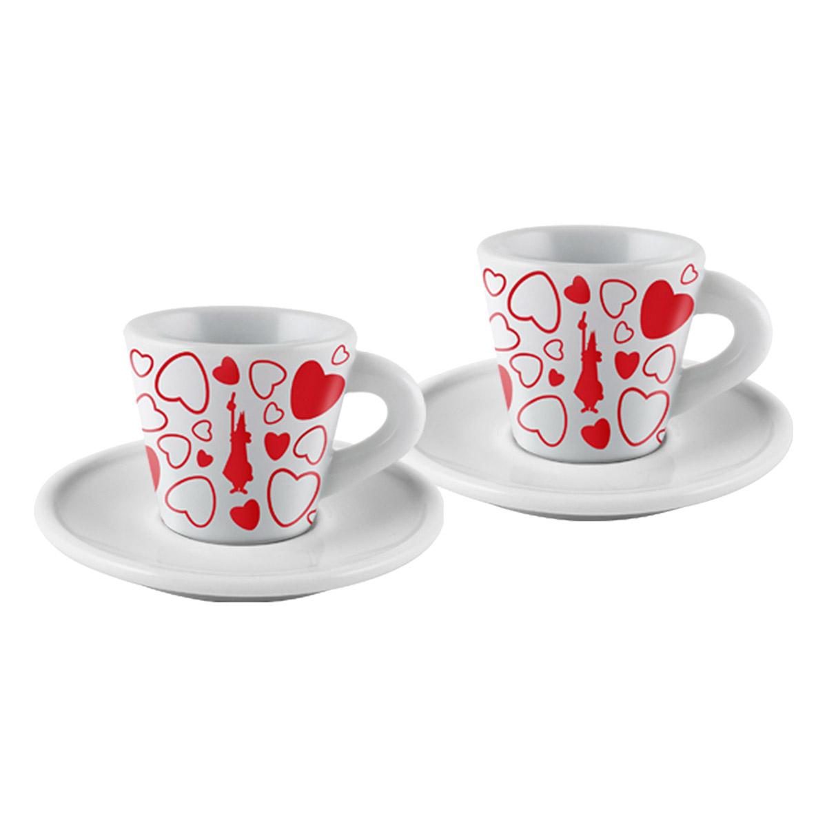 Set 2 tazas cuore para espresso Bialetti