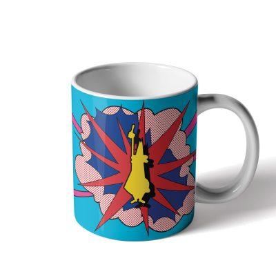 Mug Lichtenstein de Porcelana