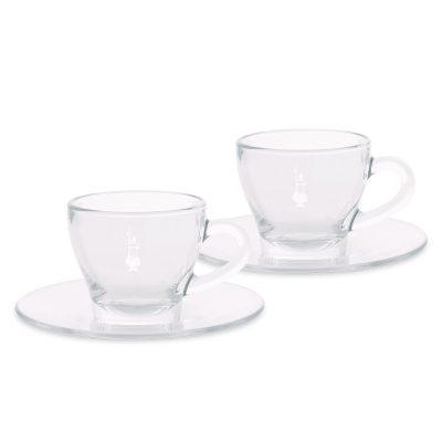 Set de 2 Tazas de Vidrio para Cappuccino