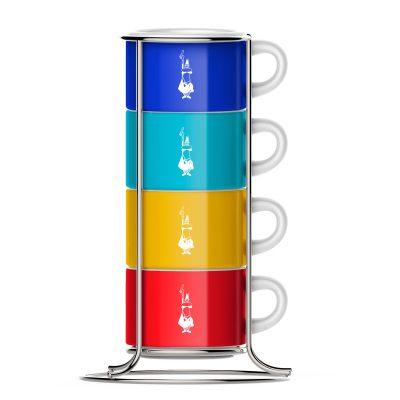 Set 4 Tazas Apilable Color para Cappuccino