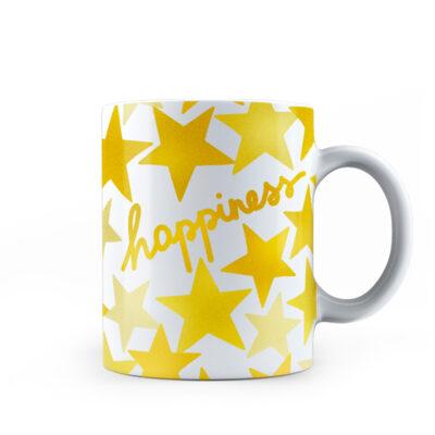 Mug Happiness de Porcelana