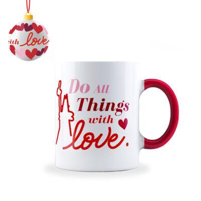 Mug Love con Bola Navideña
